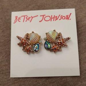 NWT Betsey Johnson sea themed earrings